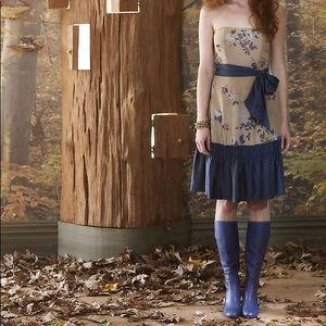 RARE Anthropologie Winter Flame Dress